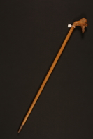 2016.184.618 right Walking stick with a handle carved as a sorrowful Jewish man's head  Click to enlarge
