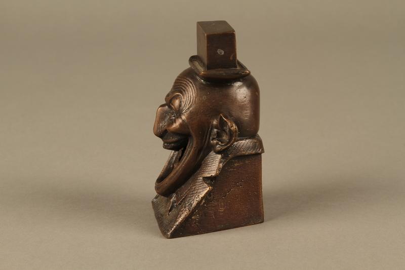 2016.184.623 left Bronze figurine in the shape of a Jewish man's head