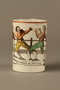 Staffordshire pearlware mug, 3rd Mendoza v Humphreys bout
