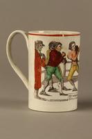 2016.184.630 right Staffordshire pearlware mug, 3rd Mendoza v Humphreys bout  Click to enlarge