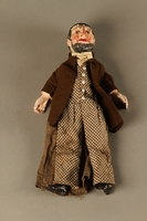 2016.184.639 front Marionette of a bearded Jewish man with a checked skull cap and coat  Click to enlarge