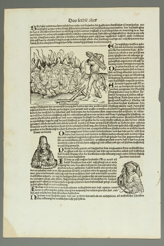 2016.184.652 front Leaf from the Nuremberg Chronicle
