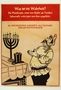 Poster with a caricature of Stalin praying to a menorah and top hat