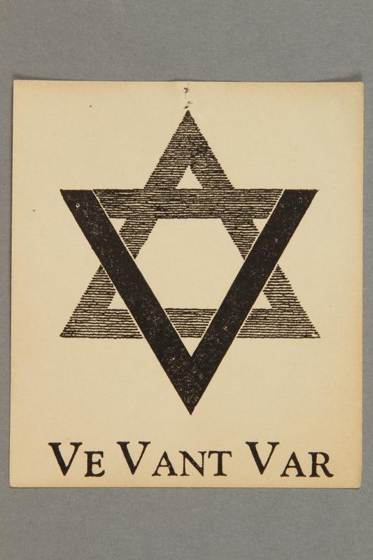 2016.184.685 front Propaganda sticker, Ve Vant Var