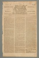 2016.184.694 front The Pennsylvania journal, or, Weekly advertiser, Number 1524, September 11, 1782  Click to enlarge