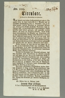 2016.184.709 front German edict of 1836 regulating the Jewish population  Click to enlarge