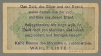 2016.184.713 back Weimar Germany, 1000 mark note, with antisemitic overprint  Click to enlarge