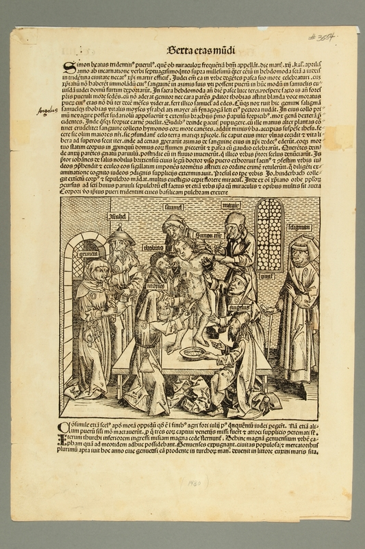 2016.184.715 front Woodcut of the so-called martyrdom of Simon of Trent