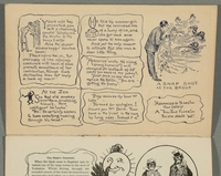 2016.184.717 page 1 Postcard illustrating Jewish stereotypes  Click to enlarge