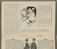 2016.184.717 page 7 Postcard illustrating Jewish stereotypes  Click to enlarge