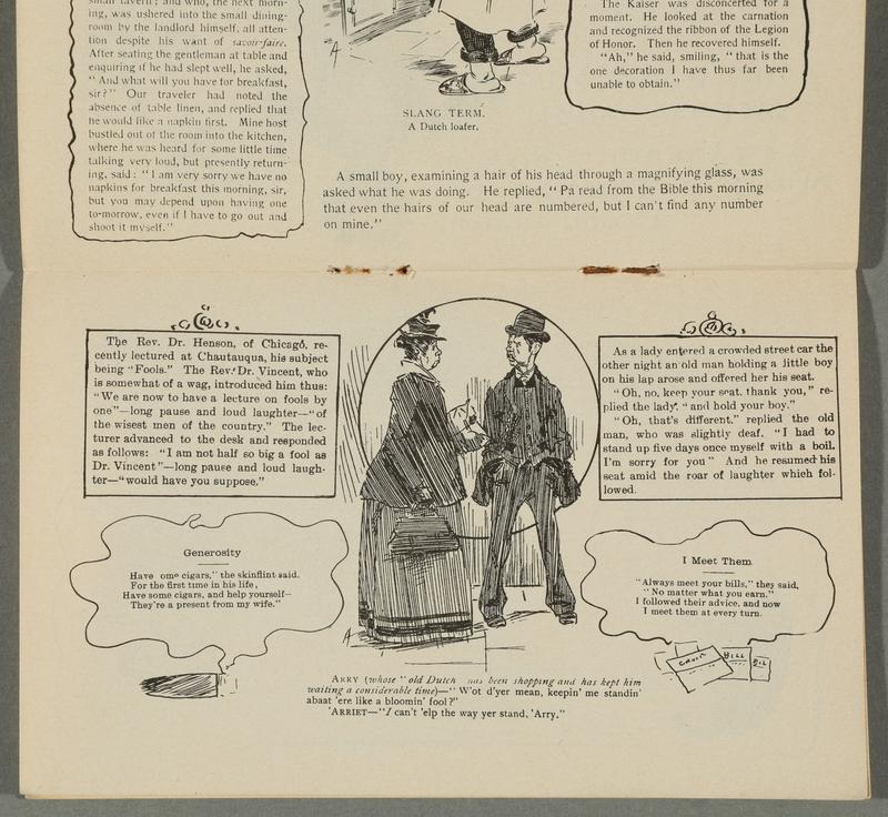 2016.184.717 page 8 Postcard illustrating Jewish stereotypes