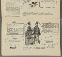 2016.184.717 page 8 Postcard illustrating Jewish stereotypes  Click to enlarge