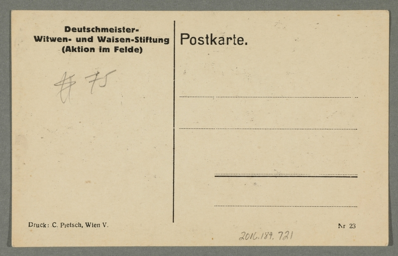 2016.184.721 back WWI postcard of Jews holding music for Germans marching into Russia