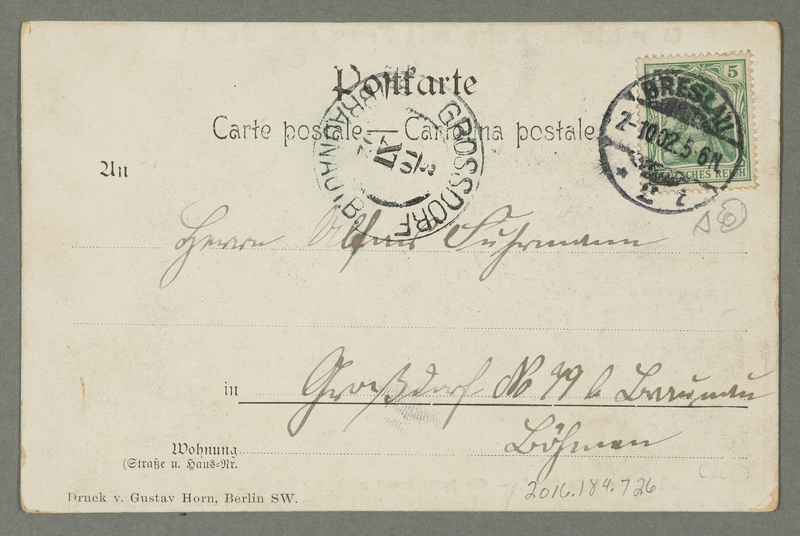 2016.184.726 back Inscribed postcard expressing contempt for Jews