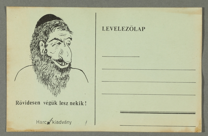 2016.184.729 front Propaganda postcard for getting rid of the Jews