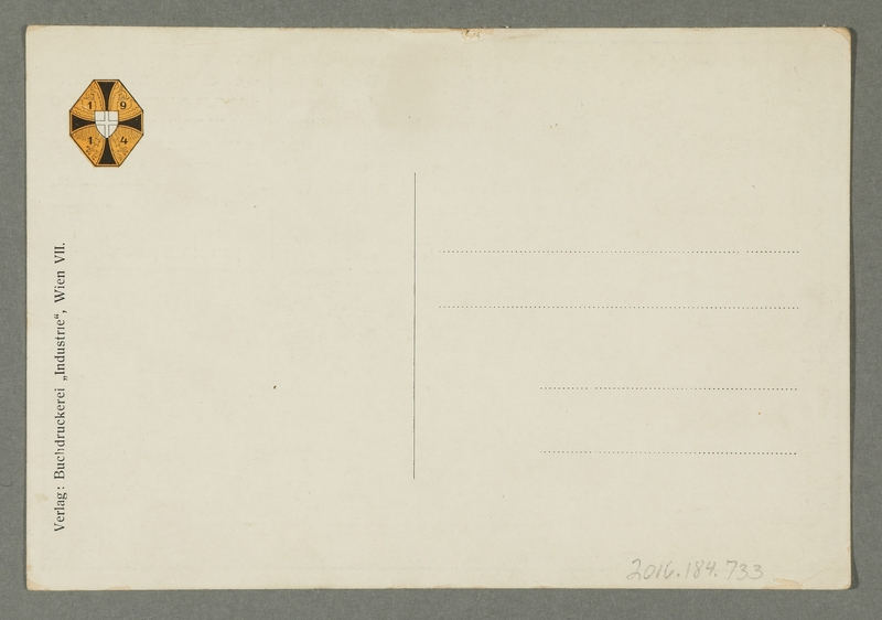 2016.184.733 back Postcard of the heir apparent in Czernowitz