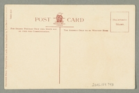 2016.184.743 back Illustrated postcard of a Jewish street peddler and a dog  Click to enlarge