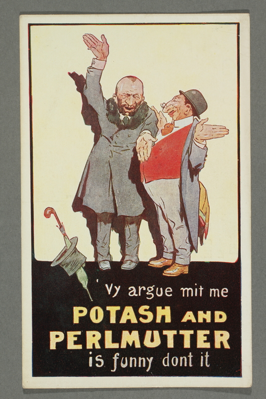 2016.184.748 front Unused postcard for comedy act Potash and Perlmutter