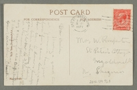 2016.184.763 back Inscribed postcard of a drunk man at a pawnshop at night  Click to enlarge
