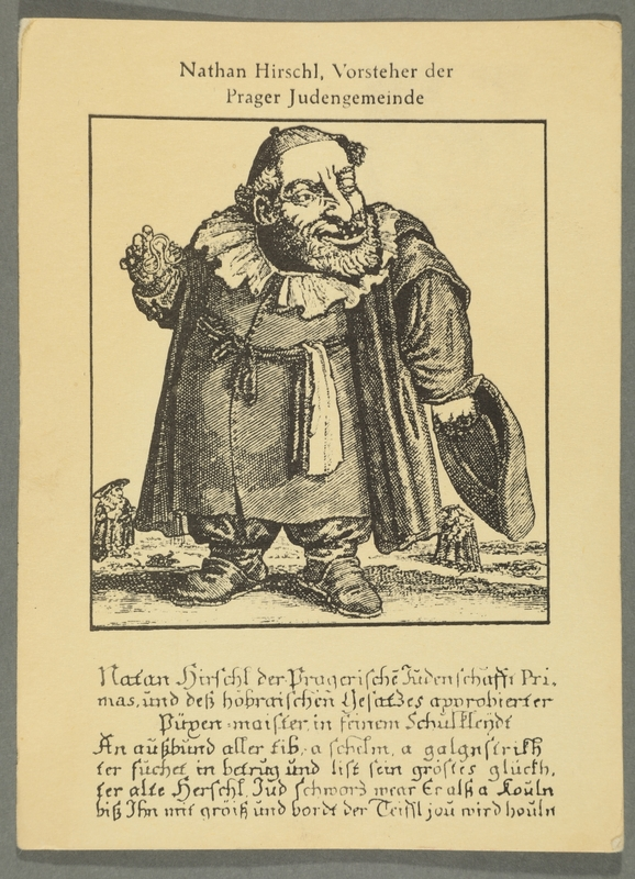 2016.184.769_front Picture postcard of a leering Jewish dwarf