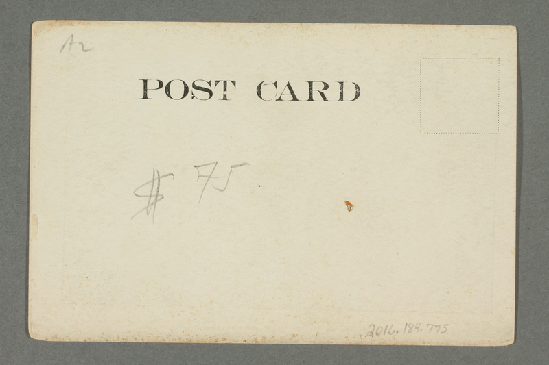 2016.184.775 back Postcard of an aroused man in a nightshirt