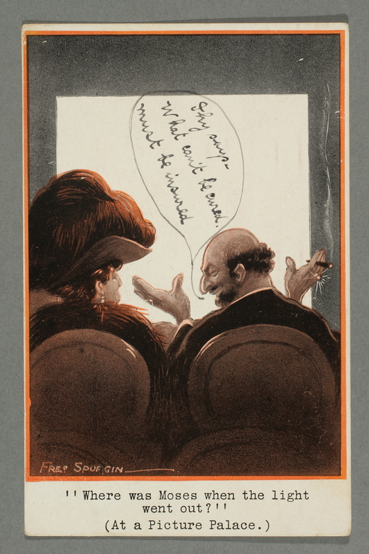 2016.184.778 front Inscribed postcard with a Jewish cartoon