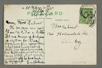 2016.184.779 back Inscribed postcard cartoon with a Jewish peddler  Click to enlarge