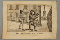2016.184.794 front Etching of a Jewish peddler buying a pair of breeches  Click to enlarge