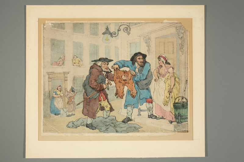 2016.184.796 front Rowlandson print of a Jewish rag dealer making his rounds