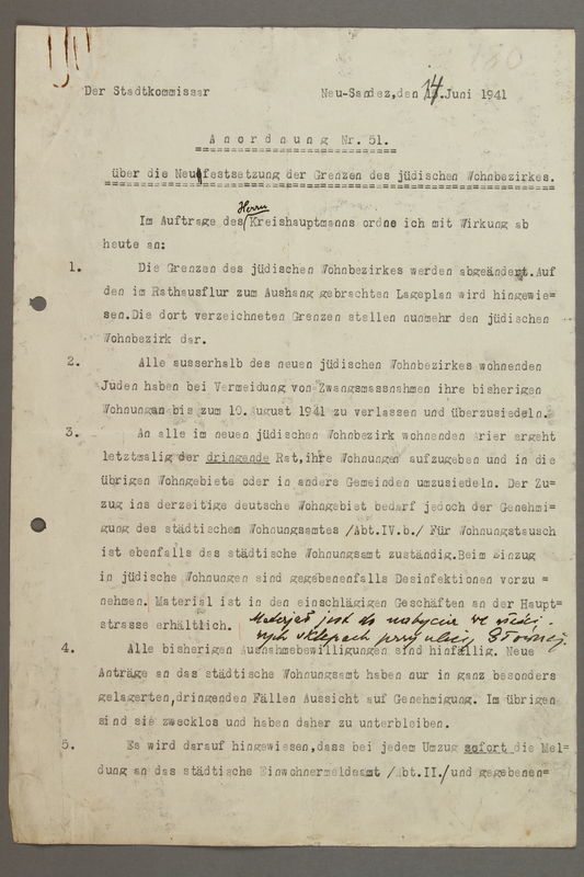 2016.184.798 a front Two page typed regulation restricting Jewish housing