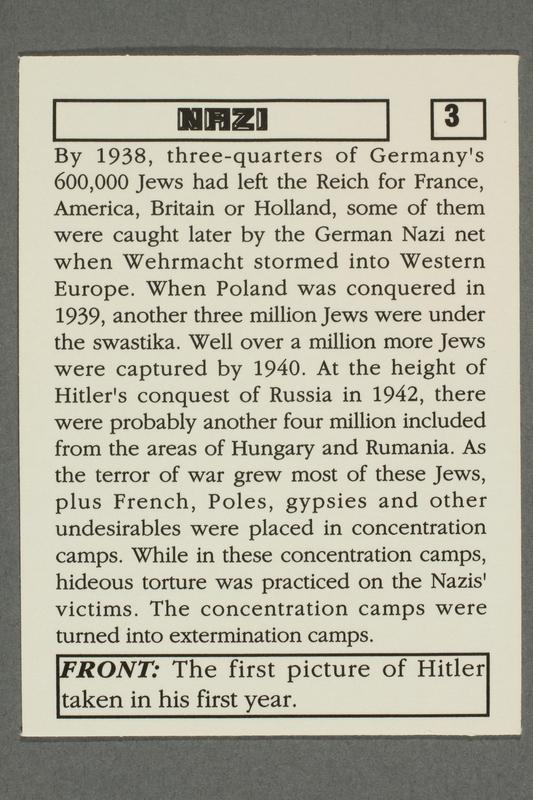 2016.184.801 e back Boxed set of Nazi playing cards