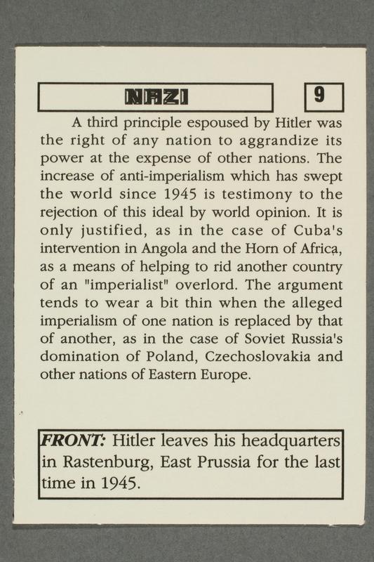 2016.184.801 k back Boxed set of Nazi playing cards