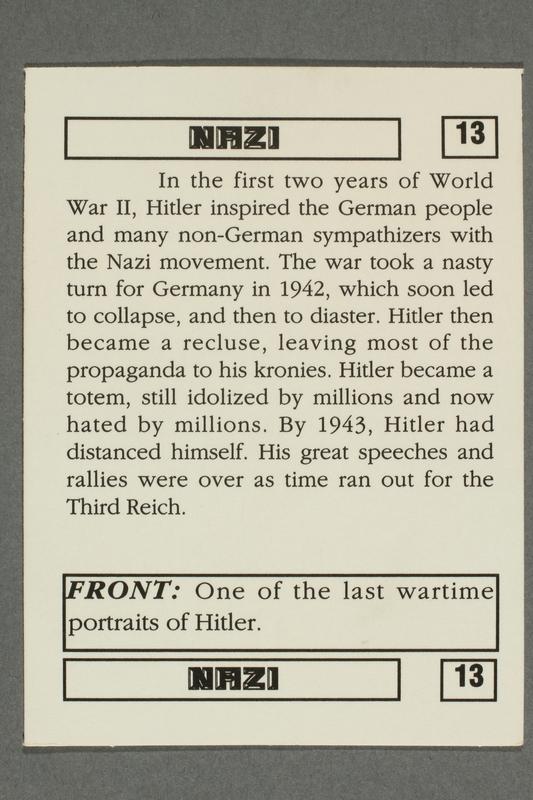 2016.184.801 o back Boxed set of Nazi playing cards