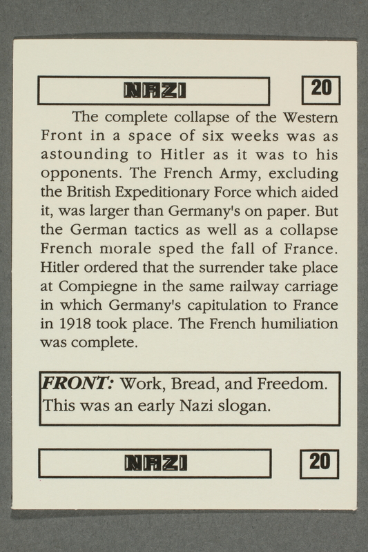 2016.184.801 v back Boxed set of Nazi playing cards