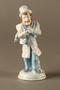 Porcelain figure of peddler match holder
