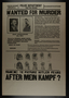 Satirical Hitler wanted for murder poster