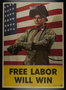 US homefront poster with an image of a welder