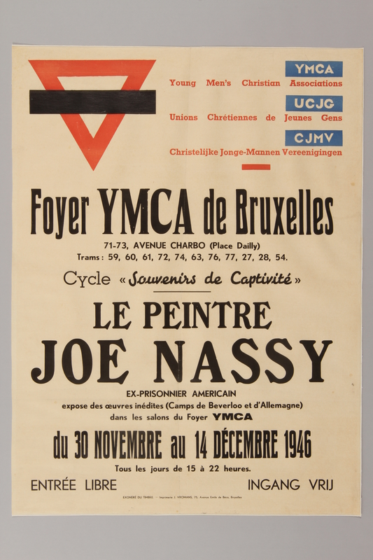 1991.245.205 front Poster announcing Josef Nassy postwar exhibition