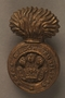 Royal Welch Fusiliers economy issue cap badge worn by a British soldier and Kindertransport refugee