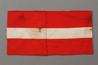 2016.412.3 back Red and white Hitler Youth armband with swastika  Click to enlarge