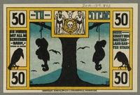 2016.184.842_back Bremen, emergency currency voucher, 50 pfennig, with anti-Jewish cartoon  Click to enlarge
