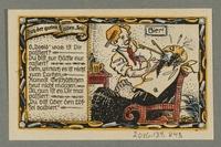 2016.184.843_back Beverungen, emergency currency, 75 pfennigs notgeld, with an anti-Jewish cartoon  Click to enlarge