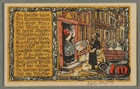 2016.184.845_back Beverungen, emergency currency, 1 mark notgeld, with an anti-Jewish cartoon  Click to enlarge