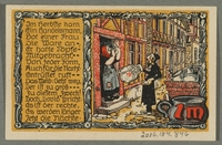 2016.184.846_back Beverungen, emergency currency, 1 mark notgeld, with an anti-Jewish cartoon  Click to enlarge