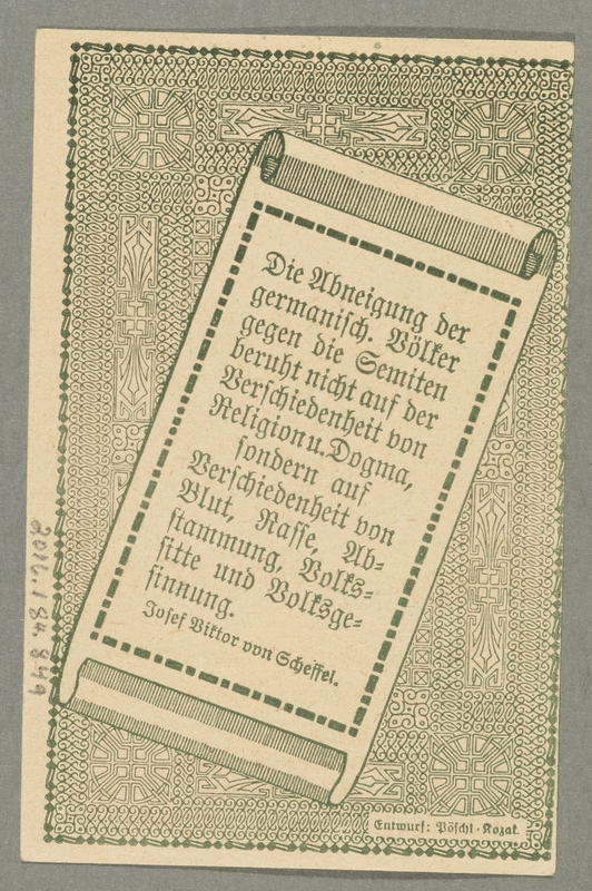 2016.184.849_back German-Austrian League of Anti-Semites, 10 heller donation receipt