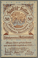 2016.184.851 front German-Austrian League of Anti-Semites, 50 heller donation receipt  Click to enlarge