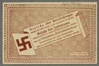 2016.184.851 back German-Austrian League of Anti-Semites, 50 heller donation receipt  Click to enlarge