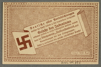 2016.184.852 back German-Austrian League of Anti-Semites, 50 heller donation receipt  Click to enlarge