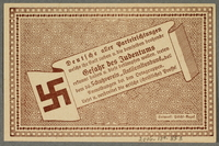 2016.184.853 back German-Austrian League of Anti-Semites, 50 heller donation receipt  Click to enlarge