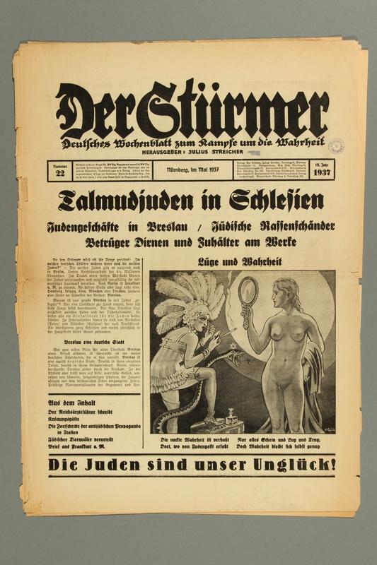 2016.184.236.24 front Der Stürmer, Nummer 22, Mai 1937, 15. Jahr 1937